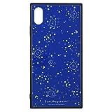 グルマンディーズ すみっコぐらし iPhoneXS Max(6.5インチ)対応スクエアガラスケース 夜空 smk-60a