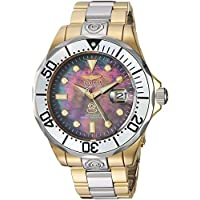 Invicta Men's Pro Analog Display Diver Automatic-self-Wind Diving Watch with Stainless-Steel Strap