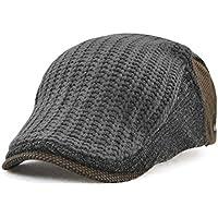 [キャプテン・ケイ] ニット ハンチング帽 メンズ キャスケット 帽子 ニット帽 フリーサイズ 調節可能