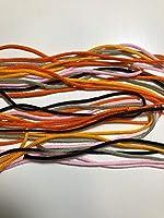 66色から選べるカラーひも <50>(色番34~66)アクリル組紐 長さ5m 太さ1.5mm 色番40(rose pink)