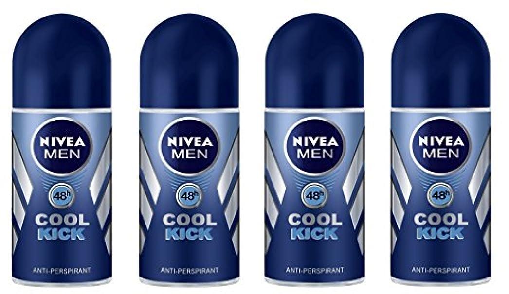 相対性理論脳スタッフ(Pack of 4) Nivea Cool Kick Anti-perspirant Deodorant Roll On for Men 4x50ml - (4パック) ニベアクールキック制汗剤デオドラントロールオン男性用...