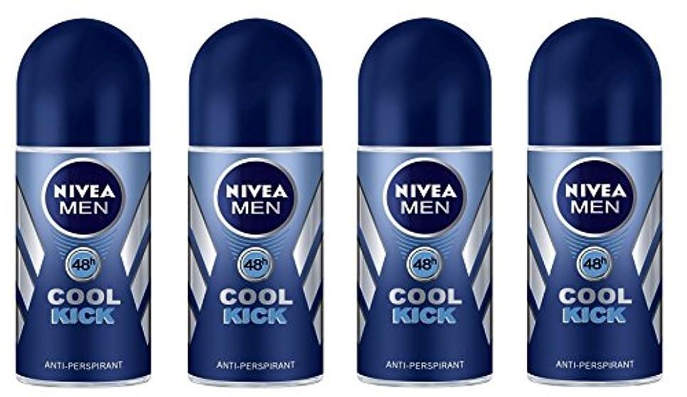 テレビ局ソーダ水ロケーション(Pack of 4) Nivea Cool Kick Anti-perspirant Deodorant Roll On for Men 4x50ml - (4パック) ニベアクールキック制汗剤デオドラントロールオン男性用4x50ml