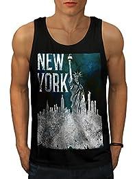 Wellcoda 新しい ニューヨーク シティ 自由 アメリカ合衆国 男性用 S-2XL タンクトップ