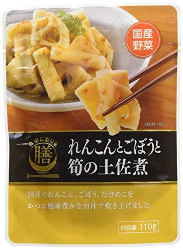 食卓に彩りを膳 れんこんとごぼうと筍の土佐煮 110g×5袋