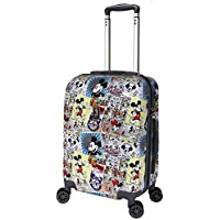 """Disney - NEW Comic 19"""" Small Carry On 4 Wheel Hardside Suitcase"""