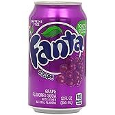 ファンタ グレープ ソーダ缶 330 ml (12 パック) Fanta Grape soda can 330ml (pack of 12)