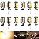 Ei-Home 12パック 暖かい白3000K G4- 5050 9 LEDハロゲンキセノン交換用電球、2.5W、10W-15W相当、アンダーカウンターライト、Puckライト、RVライティング用LED電球(無極性)