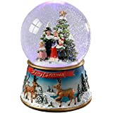 WeRChristmas Carol Singer Colour Changing Snow Globe, 19.5 cm - Multi-Colour
