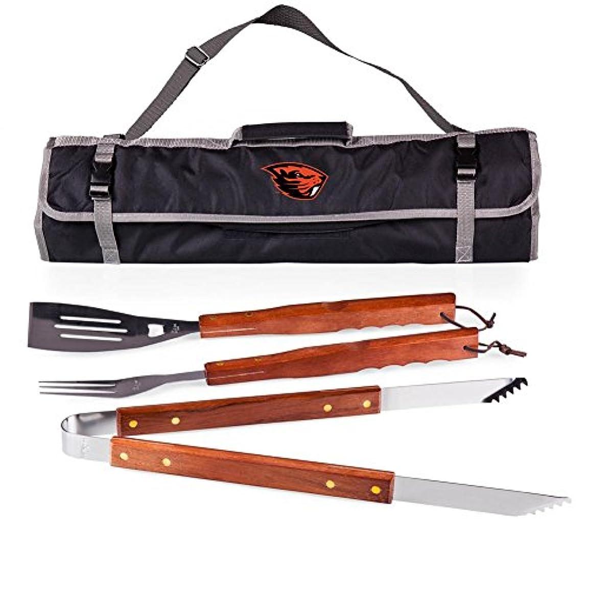 ドーム王子男らしいOregon State Beavers BBQグリル旅行ツールセット