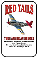8x 12Tin SignレッドTails True American Heroes WWII