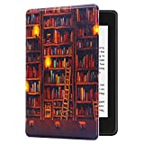 Huasiru 絵画ケース Kindle Paperwhite (第10世代-2018世代のみ - 前世代 Kindle 端末には適合しません), 図書館