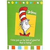 Dr Seuss Cat in the Hat Party Supplies – Invitations ( 8 )