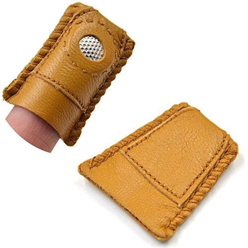D&D シンブル 指ぬき 革 手芸用
