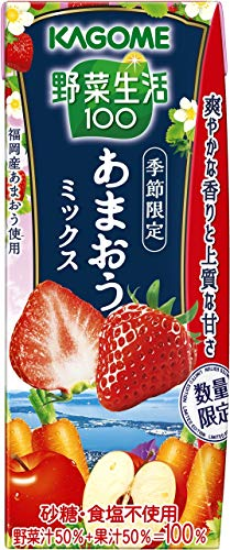 カゴメ 野菜生活100 あまおうミックス 195ml ×24本
