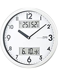 MAG(マグ) 置き時計・掛け時計 ホワイト (約) 高さ28.0×幅.28.0×奥行き4.4cm