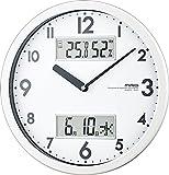 MAG(マグ) 壁掛け時計 ダブルメジャー 連続秒針 温度表示 湿度表示 ホワイト W-631WH