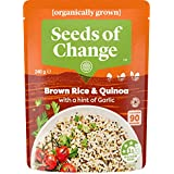 SEEDS OF CHANGE Organic Grown , Brown Rice and Quinoa with a hint of Garlic , 6x240g