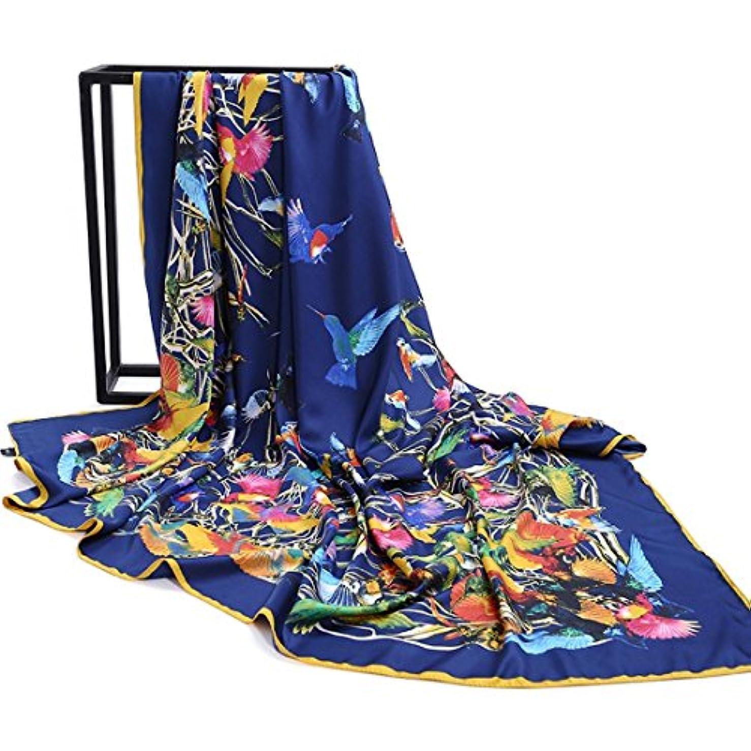 血統サージ幻想的女性用スカーフ軽量スカーフツイルシルクスカーフ女性用スクエアスカーフ130 * 130cm