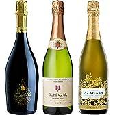 3か国周遊ワインの旅カジュアルスパークリングワインセレクト飲み比べ750ml×3本セット