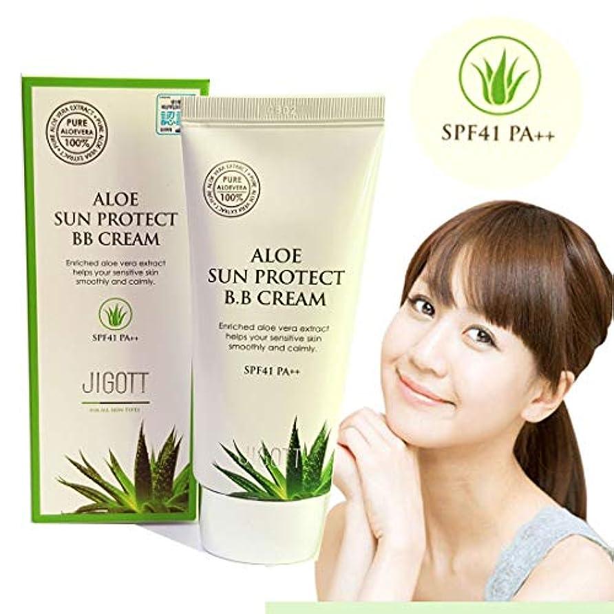 ソブリケットチップインストール[JIGOTT] アロエサンプロテクトBBクリーム50ml / Aloe Sun Protect BB Cream 50ml / SPF41 PA ++ /アロエベラエキス/水分&栄養/Aloe vera extract...