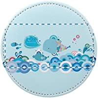 HuaQingPiJu-JP ミニラウンド漫画魚の泡のパターン小さなガラスミラーサークル工芸装飾化粧品アクセサリー
