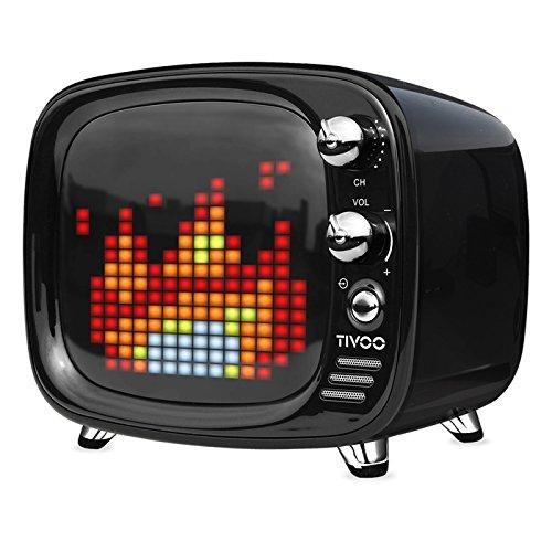 Divoom TIVOO レトロTV型モニター搭載 Bluetoothスピーカー [ ブラック ]