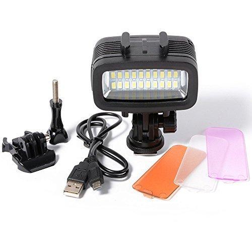 [해외]SUNIX 40m 수중 라이트 비디오 라이트 충전식 | 조광 식 20LED 700LM 1900mAh GoPro Hero 5 | 4 | 3 + | 3 | 2 호환 SU727/SUNIX 40 m underwater light video light rechargeable | dimmable 20 LED 700 LM 1900 mAh GoPro Hero 5|4|3 + | 3|2 comp...