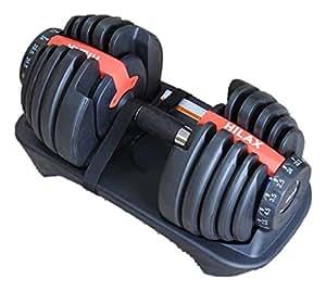 【Hilax】 ダンベル 簡単脱着 ダイヤル 可変式 24Kg×2 筋トレ トレーニング ペア 左右セット