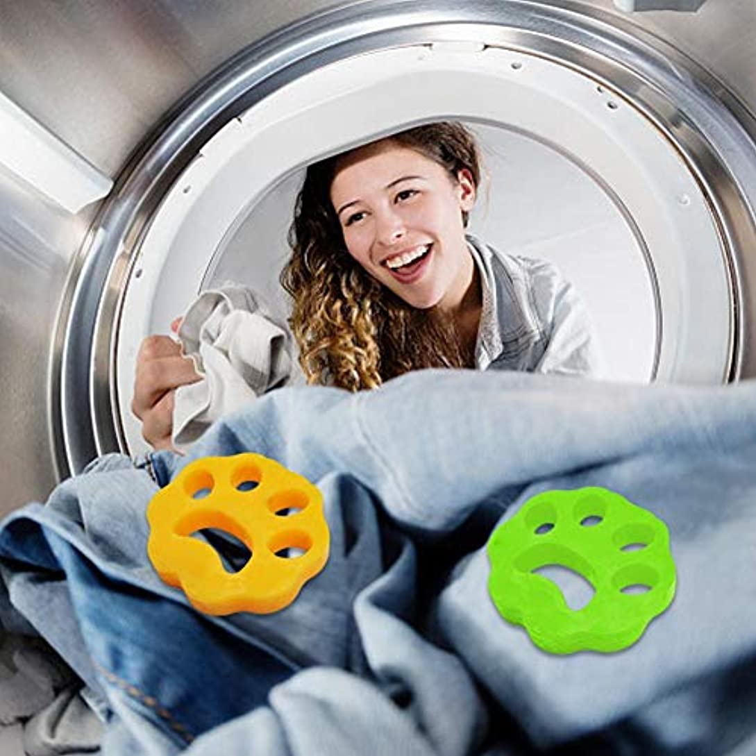 続ける圧縮する生物学明安2ピースクリーニングボール洗濯機脱毛装置ペット理髪服脱毛器ドライヤーペット脱毛パッド再利用可能