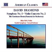 ダイアモンド:交響曲第1番/ヴァイオリン協奏曲第2番/巨大な部屋