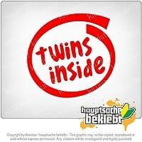 ツインズの内部 Twins Inside 11cm x 11cm 15色 - ネオン+クロム! ステッカービニールオートバイ