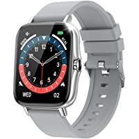 スマートウォッチ Bluetooth通話 2021最新版 1.7インチ大画面 着信通知 腕時計 活動量計 多種類運動モー…