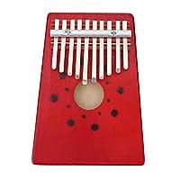 Portable 10 Keys Thumb Piano Finger Kalimba for Beginner Children Training Tool ( Color : Red ) [並行輸入品]