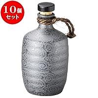 10個セット 銀彩唐草(黒)5合ボトル [10 x 21cm 900㏄ ] 【ボトル】 | 料亭 旅館 和食器 飲食店 おしゃれ 食器 業務用