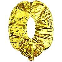 YiyiLai 数字バルーン 風船 誕生日 結婚式 バースデーグッズ ウェディング レターバルーン 組み合わせ 二次会 飾り16''金色数字 0ゴールド