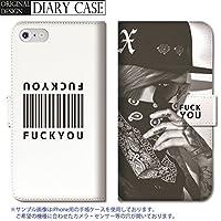 301-sanmaruichi- iPhone XS MAX 手帳型ケース iPhone xs max 手帳型 PUレザー ケース おしゃれ セクシー sexy FUCK YOU バーコード アメリカン 海外 ガールズ フォト 白黒 A 手帳ケース
