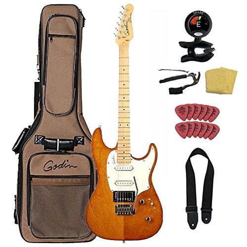 Godin ゴダン Session Rustic Burst SG Maple Neck エレキギター With ギグバッグ ギターケース Bundle エレキギター エレクトリックギター (並行輸入)