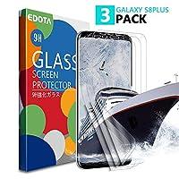 江戸田3パックギャラクシーS8プラススクリーンプロテクター、注8強化ガラス[ケースに優しい] [[アンチバブル] [3D湾曲ガラス]ギャラクシーS8プラス