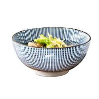 ホームキッチン用品 クリエイティブ和風ボウル人格ライスボウルスープボウルホームヌードルボウルセラミックボウルスーツと風手描きのカトラリーボウル(サイズ:20.5 * 8.5 cm) レストラン用品 (Size : 15.5*8cm)