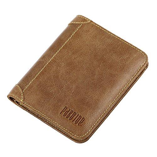 [パボジョエ] Pabojoe 二つ折り 財布 メンズ ウォレット 本革 ブラウン