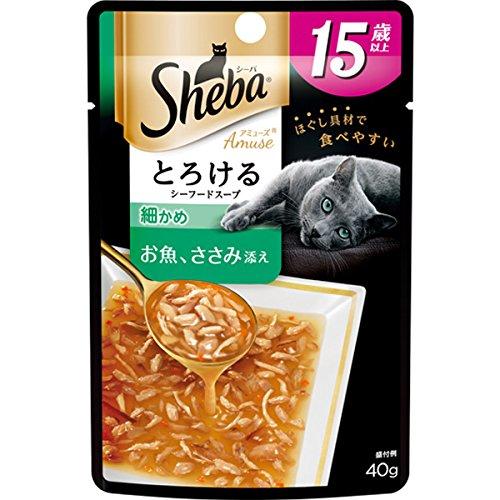 シーバ アミューズ 15歳以上 とろけるシーフードスープ 細かめ お魚 ささみ添え  40g