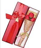 【kshop】 花 プレゼント 造花 クリスマス バレンタインデー ホワイトデー 父の日 母の日 誕生日 等 お祝い 時の プレゼント に最適 薔薇の花束 【 赤 3本 】