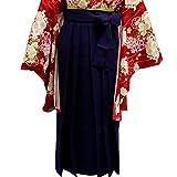 袴 女性レディース無地袴はかま 4サイズ5色/S(87cm) 紫