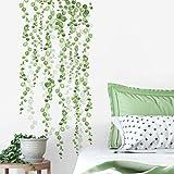 ルームメイト(RoomMates) ウォールステッカー グリーン/ホワイト 貼って剥がせる 緑のつる 2枚 20cm×88cm~20cm×89cm 【Amazon.co.jp正規輸入取扱品】 RMK3903SCS