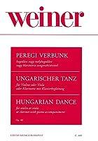 ヴァイネル : ハンガリー舞曲 作品40 (クラリネット、ピアノ) ブダペスト出版
