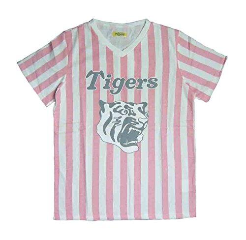 阪神タイガース Tシャツ レディス 応援グッズ GJS1304 (ピンク, L)