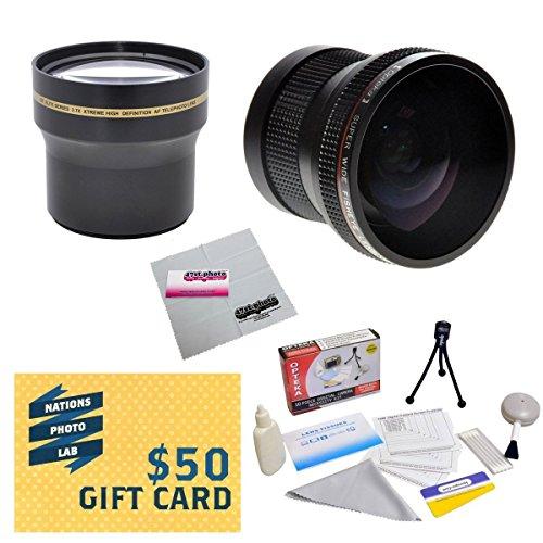 プロフェッショナル3.7X望遠レンズパッケージ 0.20X魚眼レンズfor Nikon 1aw1j1j2V1v2s1j3–Works with the Nikon 10–30mm / 30–110mm  11–27.5MMと10mmレンズにはX 3.7HDプロフェッショナル望遠レンズ+ 0.20X HD超広角パノラママクロ魚眼レンズレンズ+ボーナスデラックスレンズクリーニングキット+ 40.5MM - 52mmアダプターリング+ LCDスクリーンプロテクター+ミニ三脚+ 47stphotoマイクロファイバー布写真印刷!