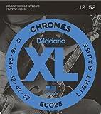 【国内正規品】 D'Addario ダダリオ エレキギター弦 XL Chromes Flat Wound Light(12-52) ECG-25 ECG25