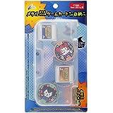 CYBER・メダルとゲームカードが入るカバー (New 3DS LL用) クリア 【上カバー】