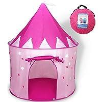 WershowエレガントプリンセスCastle Play TentアウトドアLarge Playhouse with StatパターンPerfect誕生日クリスマスギフトPresents子幼児のため ピンク BI-AK2-F-US2-LT